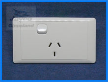 Load image into Gallery viewer, CMS Electrical Single Power Point 240v WHITE
