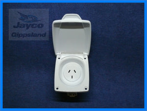 CMS Caravan Power Outlet 10amp White