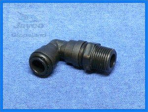"John Guest 12mm Push Fit To 1/2"" BSP Elbow"