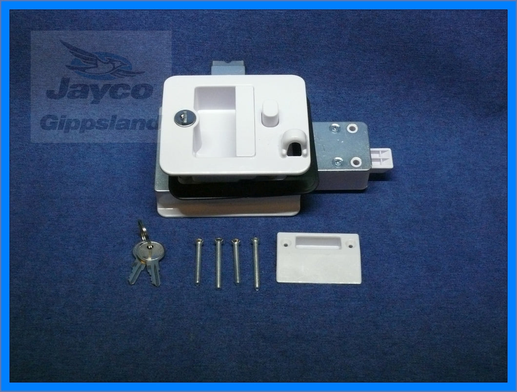 Jayco Camper Door Lock WHITE 2013>