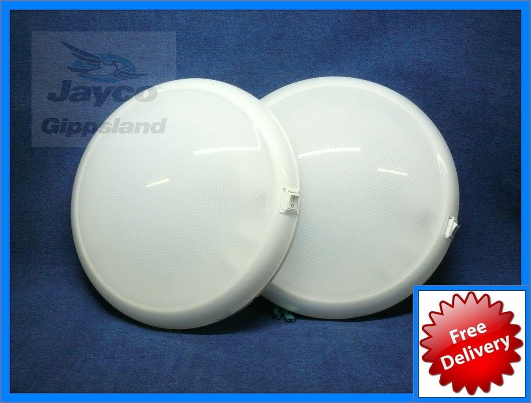 TWO - WHITEVISION Oyster Caravan Ceiling LED Lights 10