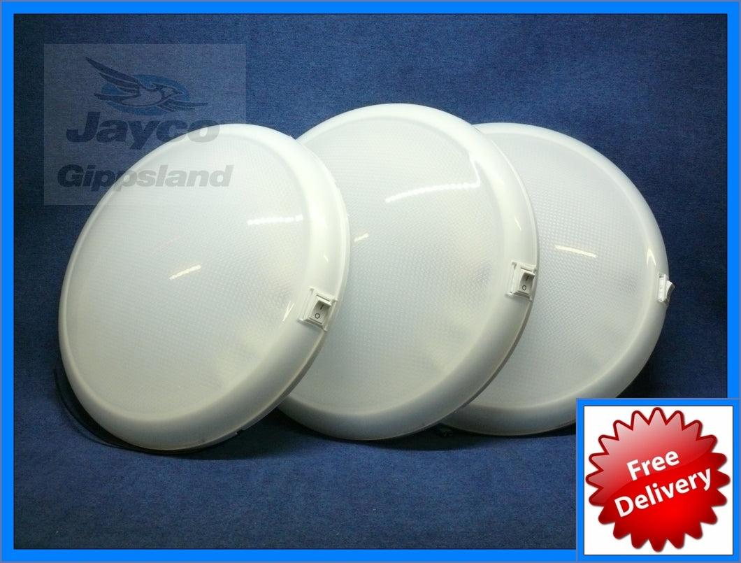 THREE - WHITEVISION Oyster Caravan Ceiling LED Lights 10