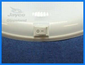 "TWO - WHITEVISION Oyster Caravan Ceiling LED Lights 10"" 250mm 12/24v"