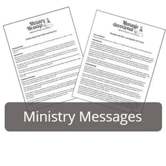 Youth Ministry Messages