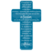 Alleluia! Cross Shape Bookmark