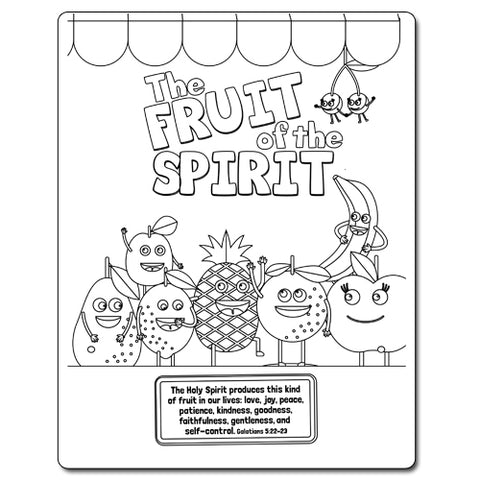 Fruit Of The Spirit Coloring Sheet - CTA, Inc.