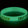 Glow In The Dark Silicone Bracelet with Story Card KJV