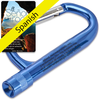 The Lord Is My Rock Carabiner Flashlight with Spanish Card