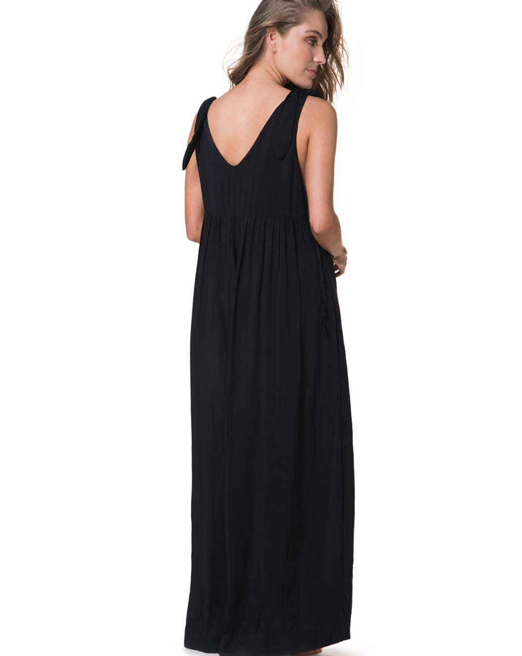 Terrazo del Mar Deep Black Dress