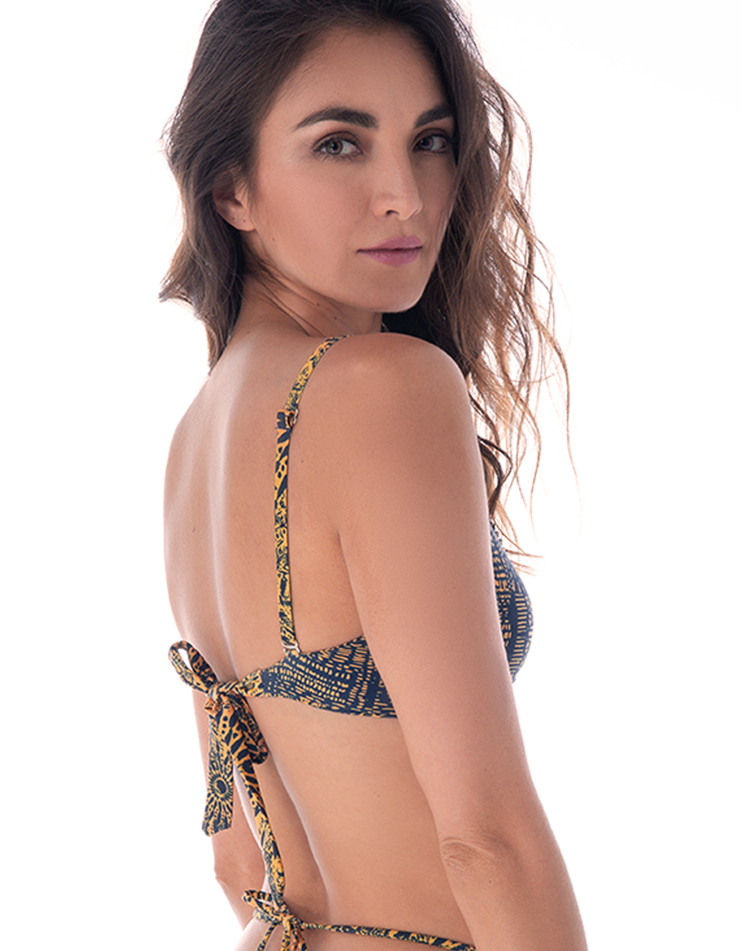 Mar Étnico Triangle Bikini Top - Eco Fabric