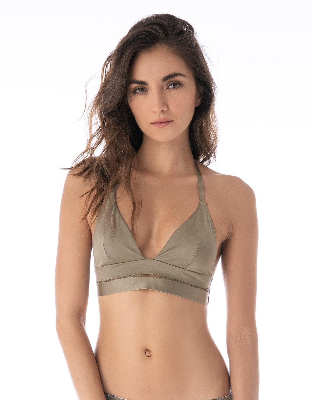 Zebrado del Mar Triangle Bikini Top - Eco Fabric