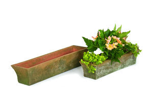 Aged Rectangular Mimi Planter