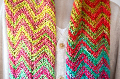 Uneek Tunisian Reversible Scarf by Megan Cullison with Uneek Yarn