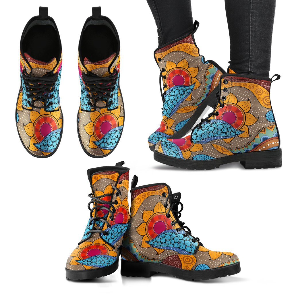 Abstract Sun Handcrafted Boots