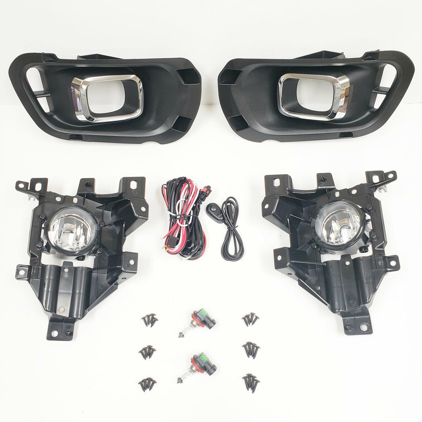 Clear Lens Fog Lights Assembly kit For 2019-21 Ford Ranger Chrome Trim | Ford Ranger Fog Light Switch Wiring |  | icarstool