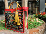 Load image into Gallery viewer, Felistianova - GAWI Tenun Ayutopas NTT laba-laba Leather Totebag