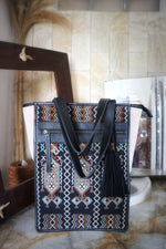 Load image into Gallery viewer, Felistianova - BESSY Tenun Ayutopas NTT Cicak Genuine Suede - Leather Totebag