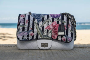 Felistianova - Arawinda Batik Encim White Leather Quilted Bag