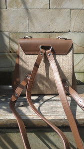 Felistianova - Muri Burlap Leather Backpack Lurik Lining