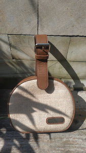 Felistianova - Nowa Circle Burlap Leather Bag Lurik Lining