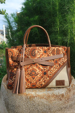 Load image into Gallery viewer, Felistianova - Humara Batik Lawas Ulap Doyo Leather Handbags Style 2