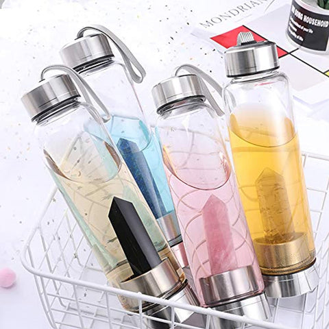 Crystal Glass Water Bottle - RegeneratingMeLifestyle