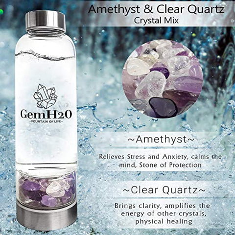 Crystal Water Bottle - RegeneratingMeLifestyle