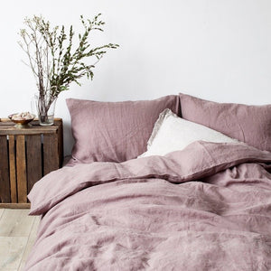 Ashes Of Roses Bed Linen Set (100% Linen)