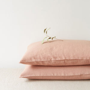 Cafe Creme Linen Pillowcase (100% Linen)