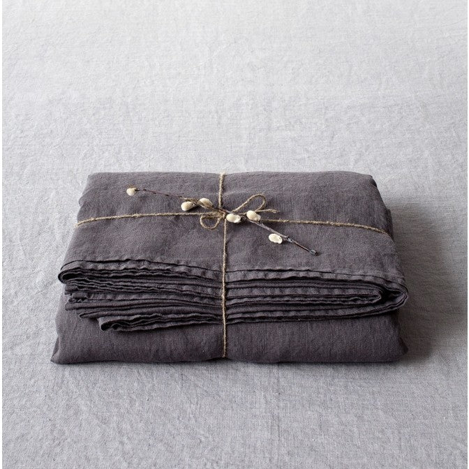 Dark Grey Linen Flat Sheet (100% Linen)