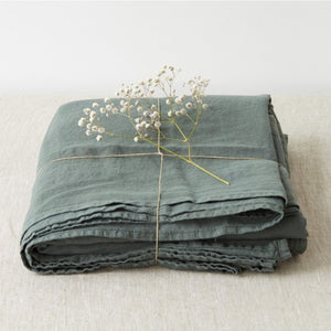 Forest Green Linen Flat Sheet (100% Linen)