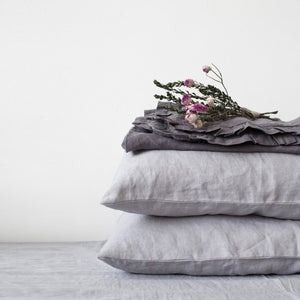Light Grey Linen Pillowcase (100% Linen)