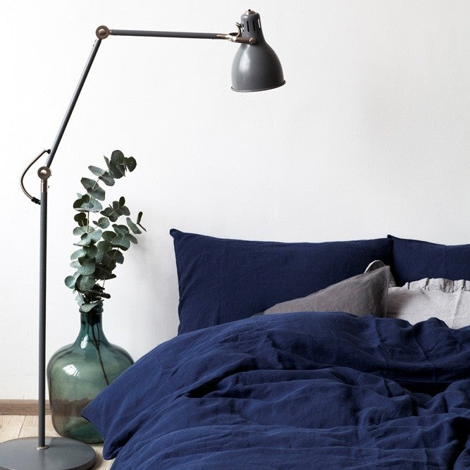 Navy Bed Linen Set (100% Linen)