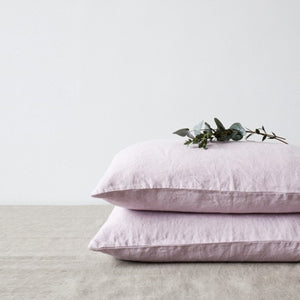 Pink Lavender Linen Pillowcase (100% Linen)