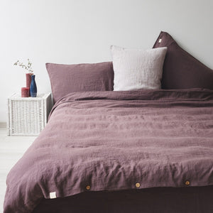 Plum Mauve Bed Linen Set (100% Linen)