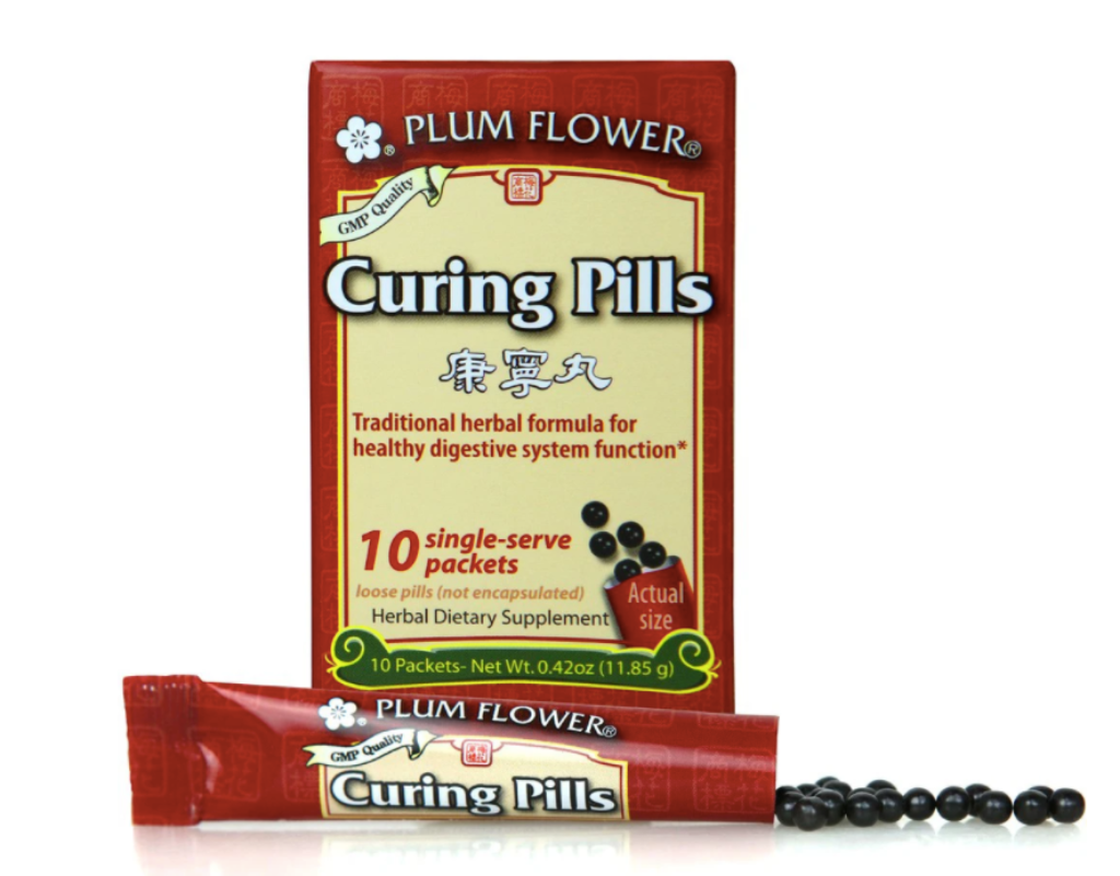 Curing pills plum flower traditional chinese herbal medicine digestive upset overindulgence acid reflux hangover gas bloating belching Dresden Body + Wellness Santa Barbara Ca