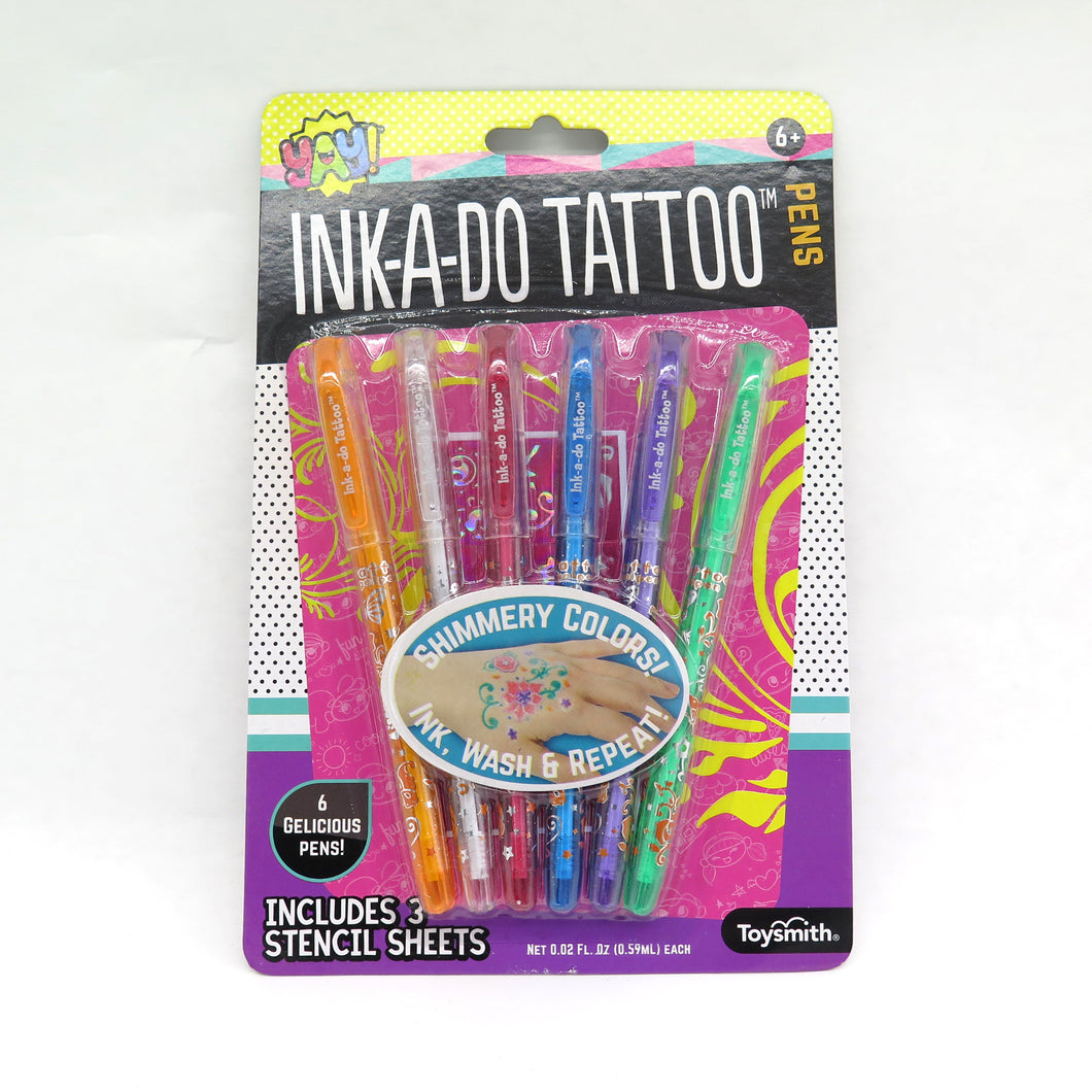 Ink-A-Do Tattoo Pens 6 Pack
