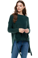 Load image into Gallery viewer, Layla Hi-Lo Front Cinched Sweater