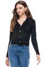 Load image into Gallery viewer, Abby Essential V-Neck Button Cardigan