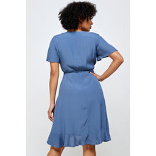 Load image into Gallery viewer, Azure Wrap Dress