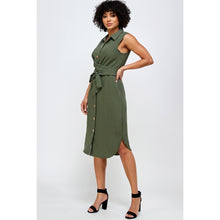 Load image into Gallery viewer, Jane Collared Shirtdress