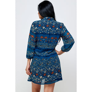 Lila Floral Mini Dress