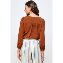 Load image into Gallery viewer, Peggy Ruched Bow Top
