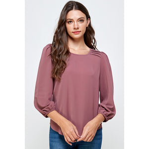 Maeve Pleated Shoulder Top