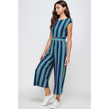 Load image into Gallery viewer, Aquamarine Striped Jumpsuit