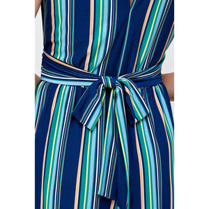 Aquamarine Striped Jumpsuit