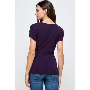Natalie Side Wrap Shirt