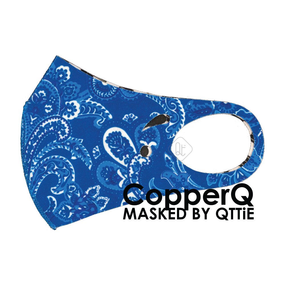 CopperQ Masked by Qttie Blue Paisley