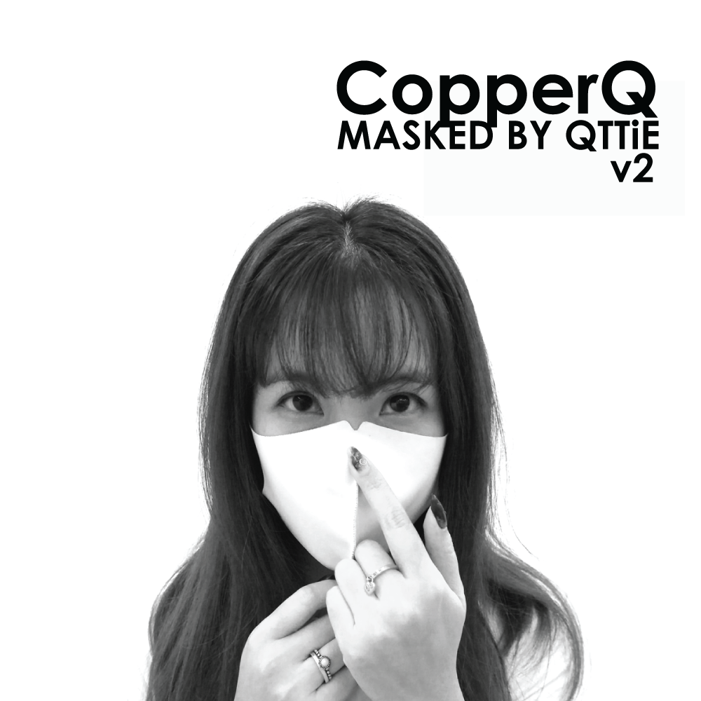 CopperQ Masked by Qttie m2 White