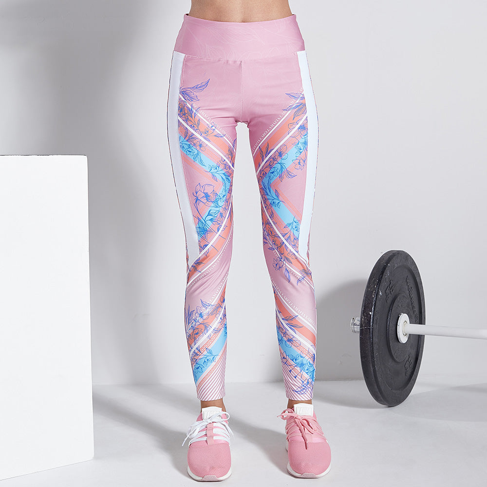 Legging Floral Tropical Lines
